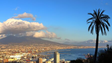 castel: View of Naples, Italy, from Castel SantElmo Editorial