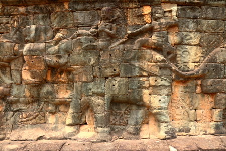 Angkor site carvings, Cambodia