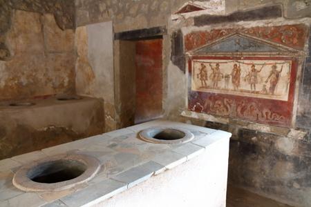 Pompéi, Italie : fresque