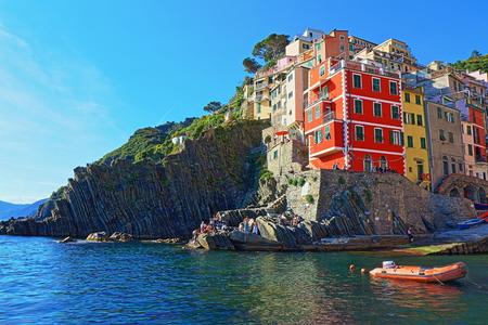 Riomaggiore, Cinque Terre, Italy Редакционное