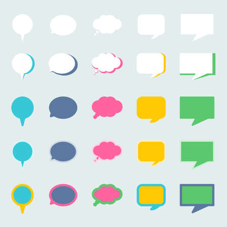 speech icon: speech bubble graphic in different style are easy to use for comic or quote for important speech.