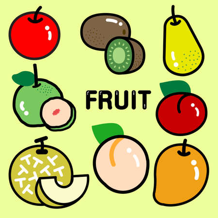 ovaries: Various kinds of colourful fresh popular fruit. Most of them are culinary fruit.