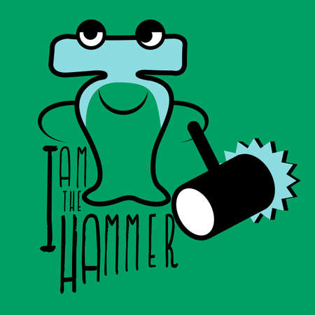 hammerhead: The hammerhead shark carrying hammer stand still to tell you I am the hammer