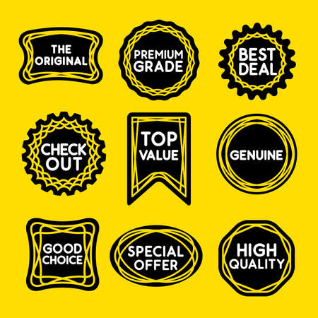 point of sale: LINE STAMP graphic for seal, sticker or stamp with words to promote at the point of sale.