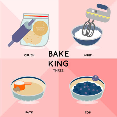 cream cheese: BAKE KING THREE How to make blueberry cream cheese pie is illustrate in simple way.