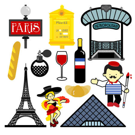 remembered: Paris, one of the most attractive city in the world, have many things to be remembered. Illustration