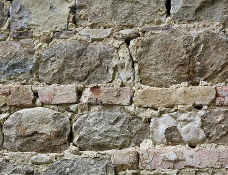 stone and brick wall Standard-Bild