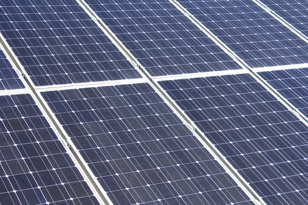 closeup of solar panel photo