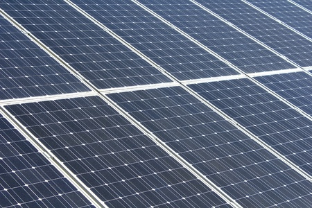 Nahaufnahme von Solarzellen Standard-Bild - 9867478