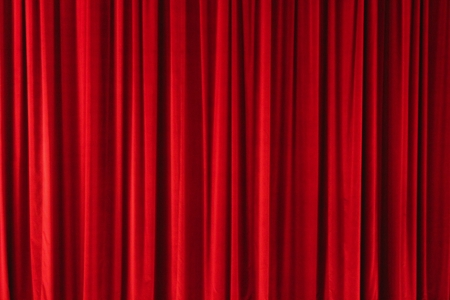 closed curtain of a theater