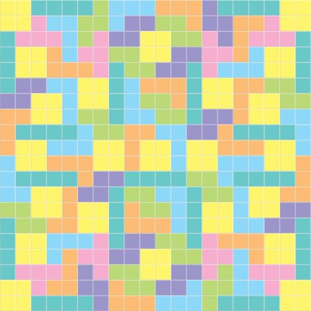 tetris: Tetris background pastel colors,illustration