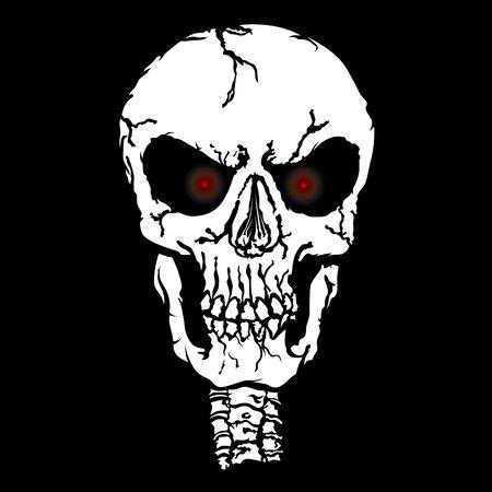 red eyes: red eyes skull illustration Illustration