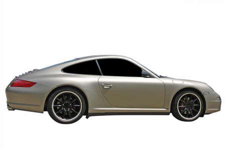 Grau Sportwagen auf weißem