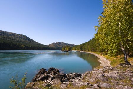 The right bank of the Katun river Stock Photo - 7402168