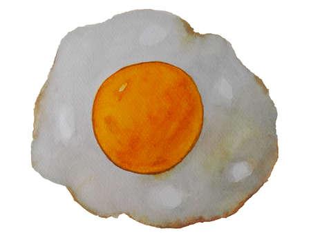 york fried egg watercolor patinting Stockfoto