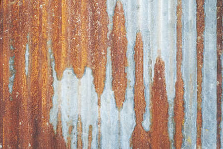 close up of old rusty zinc plat wall texture background.