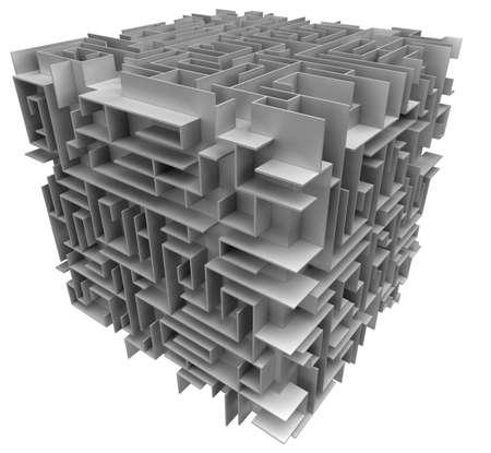 cube maze Stock Photo - 1796292