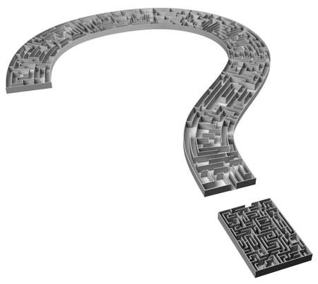 question maze Stock Photo - 2265143