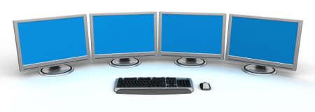 PC Workstation Stock Photo