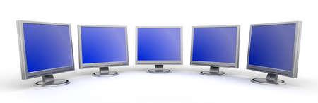Monitors flat screen Stock Photo - 2628795