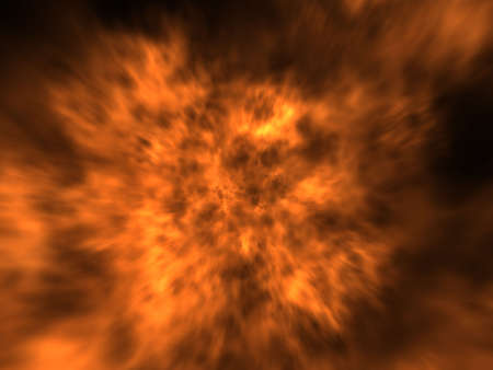 firepower: Image of fire. Digital generated. Black background.