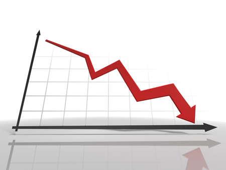 3d Diagram. White background. Stock Photo