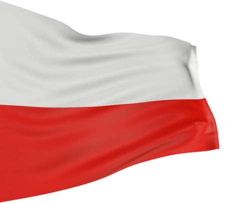 bandera de polonia: 3D pabell�n polaco  Foto de archivo