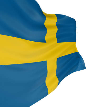 the swedish flag: 3D Swedish flag Stock Photo