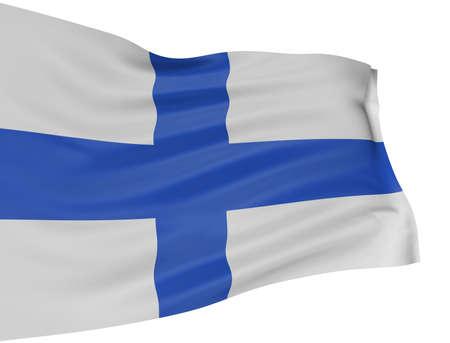 finland�s: 3D bandera finlandesa