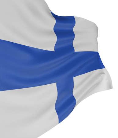 finland�s: 3D finland�s bandera  Foto de archivo