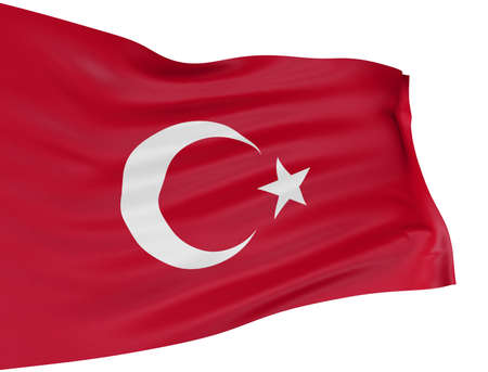 3D Turkish flag
