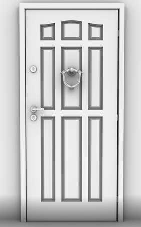 cerrar la puerta: La puerta estrecha  Foto de archivo
