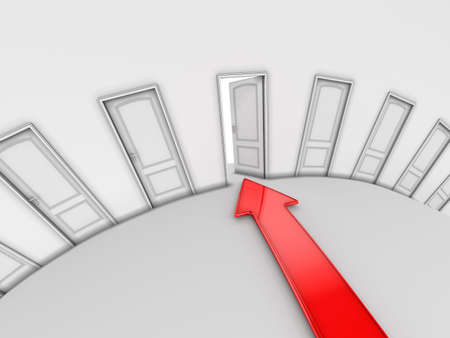 Image of doors and arrow Stock Photo - 3078782