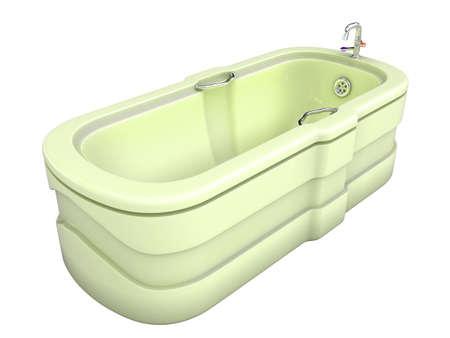 3d image of bath. White background. photo
