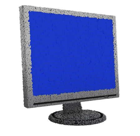 Image of monitor. White background. Stock Photo - 3501437