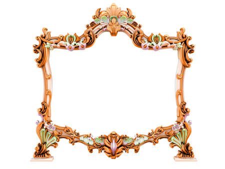 3d image of antique frame. White background. Stock Photo - 3501468