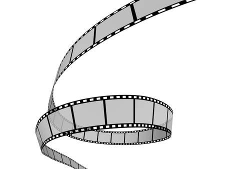 3d Film Strip. White background. Digitally Generated.