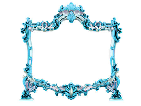 3d image of antique frame. White background. Stock Photo - 3781785