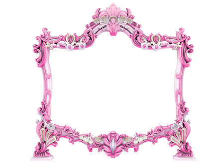 3d image of antique frame. White background. Stock Photo - 3781781