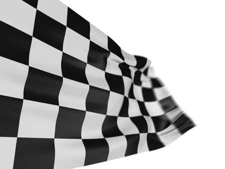 sidecar motocross racing: Motion Blur Checkered Flag Stock Photo