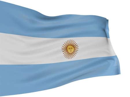 bandera argentina: 3D bandera argentina Foto de archivo