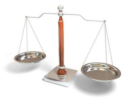 balanza en equilibrio: Balanza Foto de archivo