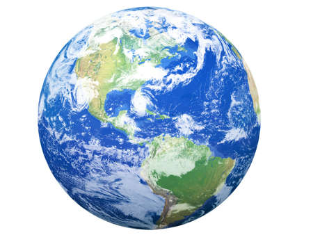 Earth Model: USA View Stock Photo - 4440112