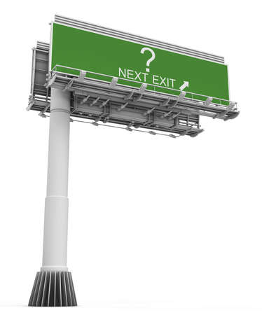 exit sign: question Freeway Exit Sign