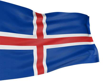 icelandic flag: 3D pabell�n island�s Foto de archivo