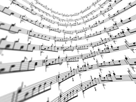 3d music notes Stock Photo - 4661143