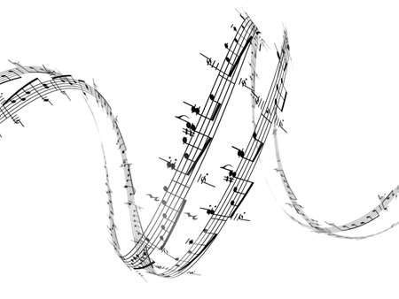 3d music notes Stock Photo - 4661149