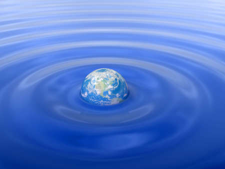 globe in Water Stock Photo - 4661113