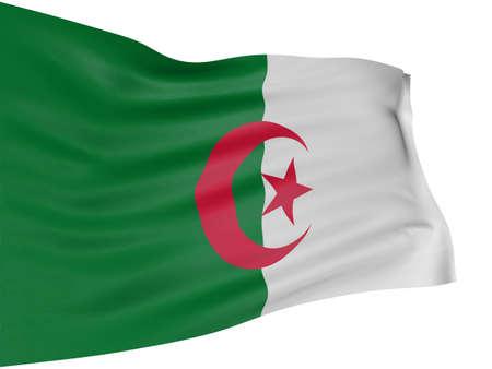 Algierski: 3D Flaga Algierii Zdjęcie Seryjne