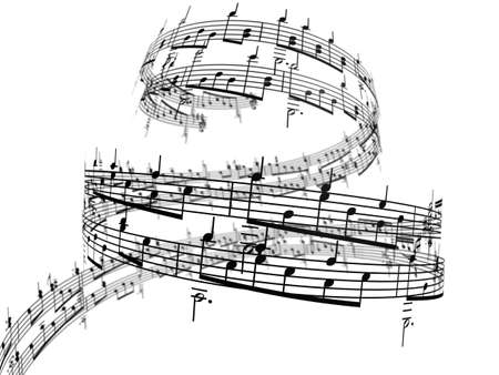 3d music notes Stock Photo - 4882420